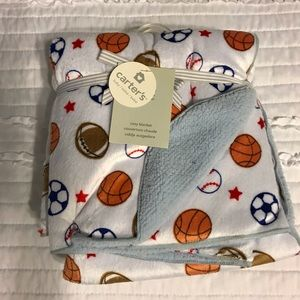 Carters sports themed blanket